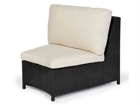 Caluco Cosmic Wicker Sectional Single Armless Chair