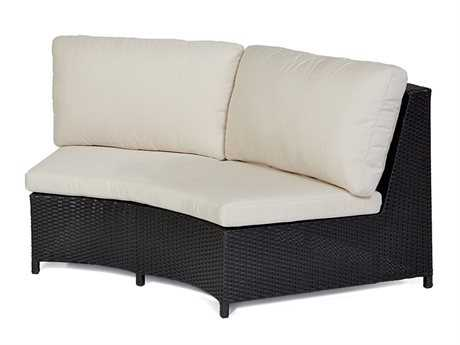 Caluco Cosmic Wicker Sectional Double Armless Sofa