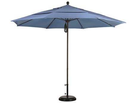 Caluco Aluminum 11 Foot Commercial Grade Pulley Lift Umbrella