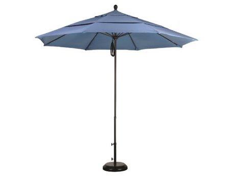 Caluco Commercial Aluminum 11'' Foot Round Pulley Lift Umbrella PatioLiving
