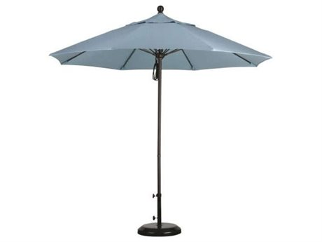 Caluco Aluminum 9 Foot Commercial Pully Lift Umbrella PatioLiving