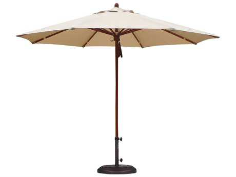 Caluco 11 Commercial Grade Umbrella with Sunbrella Canopy