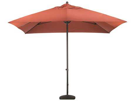 Caluco Aluminum 11 Foot Commercial Grade Push-up Lift Square Market Umbrella
