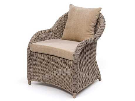 Caluco Amelie Wicker Dining Club Chair