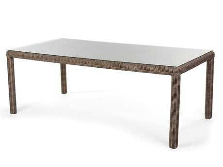 Caluco Amelie Wicker 84''W x 42''D Rectangular Dining Table