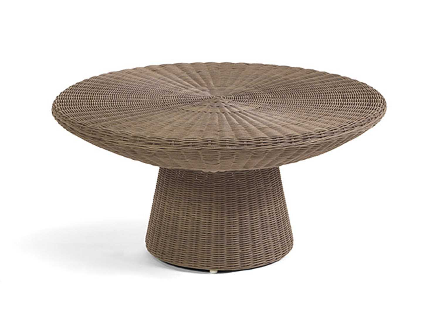 Caluco Amelie Wicker 36 Round Coffee Table ...