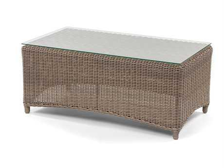 Caluco Amelie Wicker 44 x 24 Rectangular Coffee Table