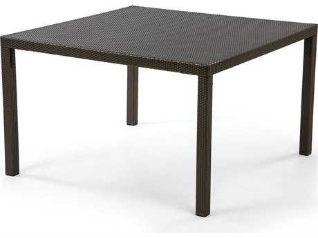 Caluco Gracia Wicker 48'' Wide Square Dining Table