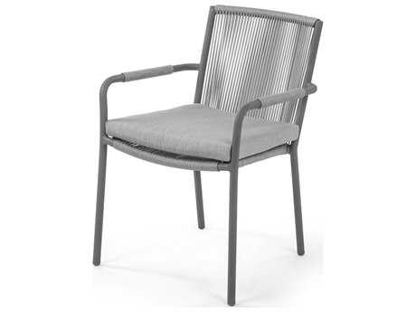 Caluco Felicidad Aluminum Dining Arm Chair