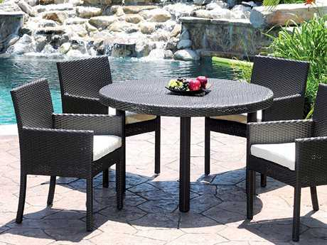 Caluco Dijon Wicker Majestic Black Dining Set PatioLiving
