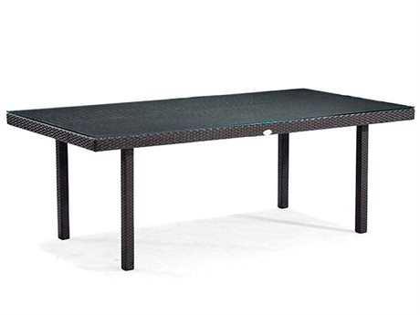 Caluco Dijon Majestic Black Wicker 84''W x 42''D Rectangular Dining Table