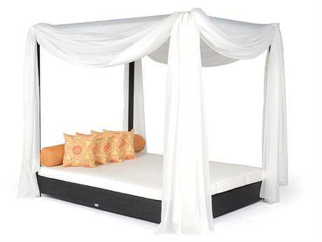 Caluco Dijon Wicker Double Bed with Canopy