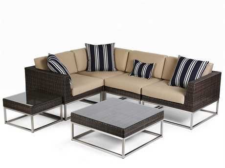 Caluco Mirabella Wicker Sectional Lounge Cushion Set