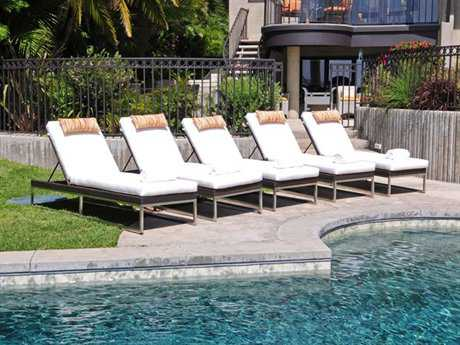 Caluco Mirabella Wicker Pool Lounge Cushion Set