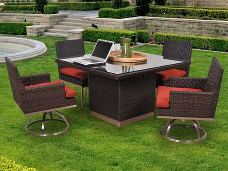 Caluco Mirabella Casual Cushion Wicker Dining Set