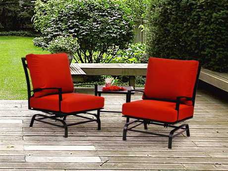 Caluco San Michelle Aluminum Lounge Cushion Set with Glider Chairs