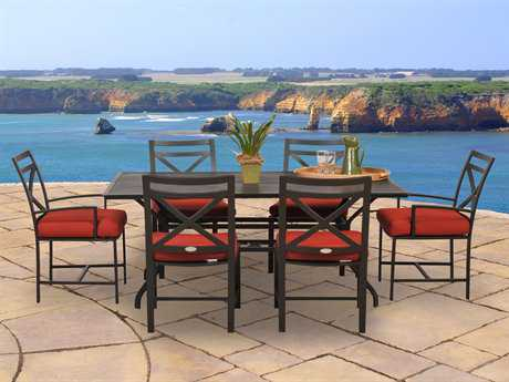 Caluco San Michelle Aluminum Dining Cushion Set