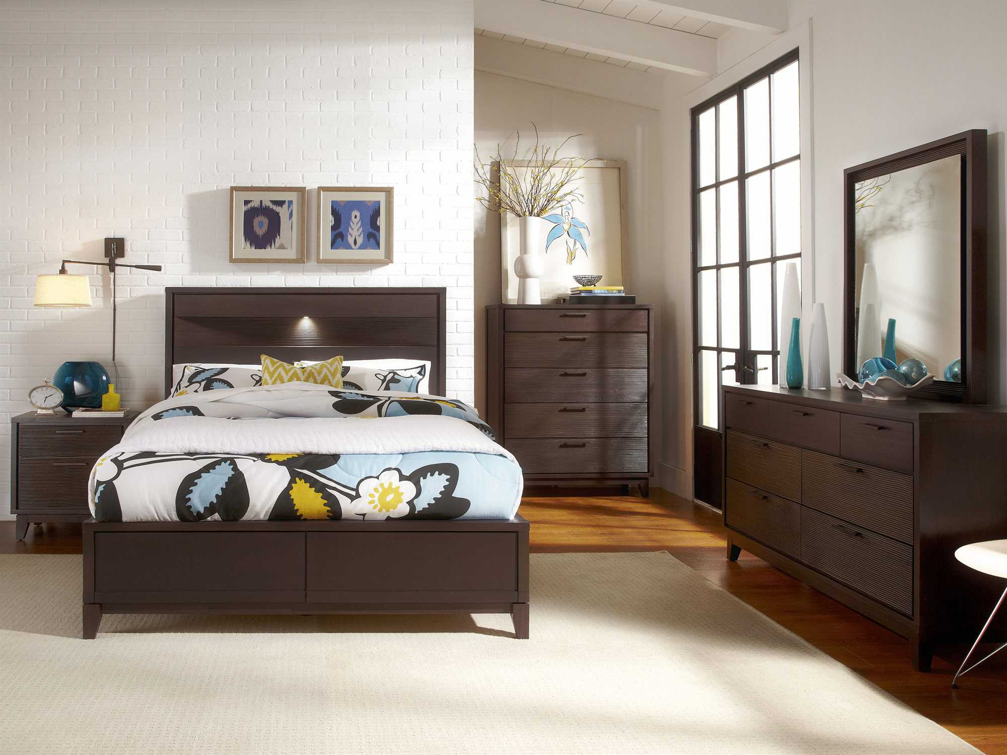 casana sierra panel bed bedroom set cx285500kqset