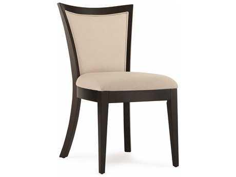 Casana Beckett Collection Dark Birch And Oatmeal Slat Dining Side Chair