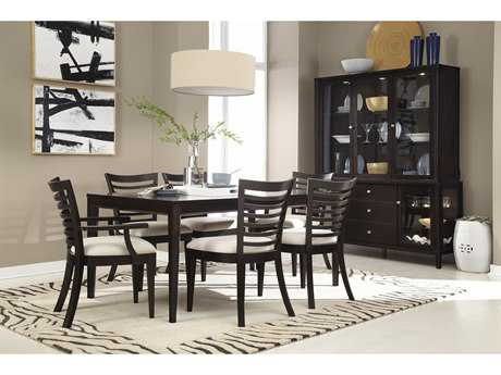 Casana Beckett Collection Dark Birch And Oatmeal Seven Piece Dining Table and Chair Set