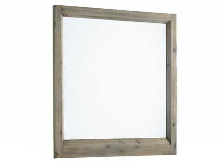 Casana Harbourside Weathered Acacia 37W x 40H Rectangular Portrait Dresser Mirror