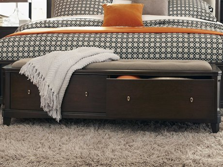 Casana Juliette Mink / Brindle Storage Bench with Antique Brushed Nickel Hardware