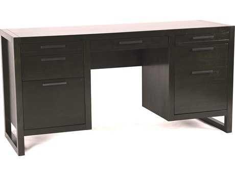 Casana Tahoe Noir 48'' x 19'' Double Pedestal Desk