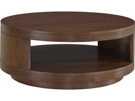 Casana Tessa Clear Medium Walnut 40'' Round Coffee Table