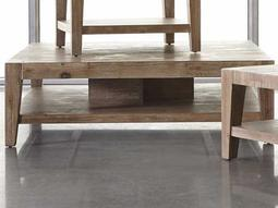 Tyler Weathered Acacia 46'' Square Coffee Table