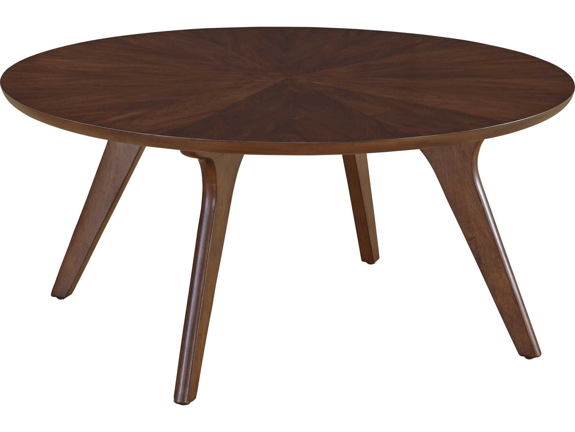 Casana Hensen Clear Mid Toned Walnut 36 39 39 Round Coffee Table Cx852050