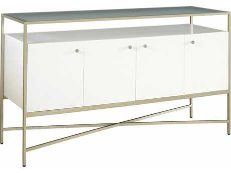 Casana Hemming Low-Sheen Ivory 54'' x 18'' Rectangular Console Table