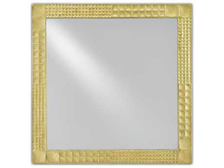 Currey & Company Suvi 24'' Square Brass Wall Mirror
