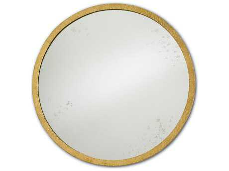 Currey & Company Aline 21'' Round Small Gold Wall Mirror