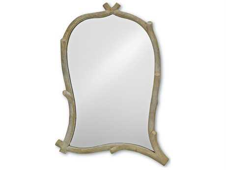 Currey & Company Creekside Mirror Faux Bois Wall Mirror