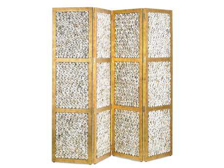 Currey & Company Margate 4 Panel Folding Screen