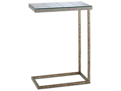 Currey & Company Sloan Chinois Viejo Silver End Table