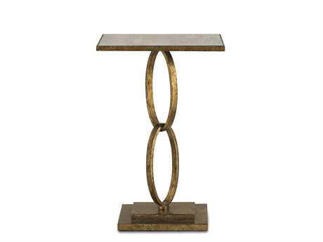 Currey & Company Gold Leaf 18 x 14 Rectangular Bangle End Table