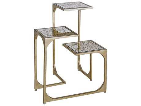 Currey & Company Constance Silver End Table