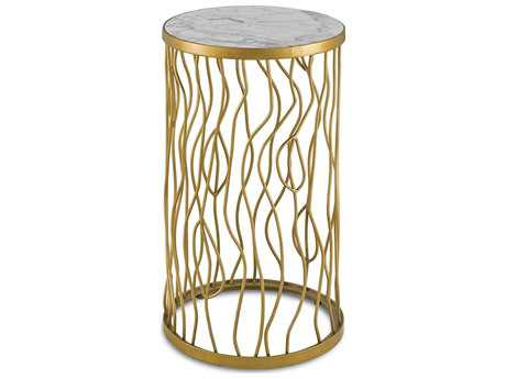 Currey & Company Torrey Contemporary Gold 14'' Round Accent Table