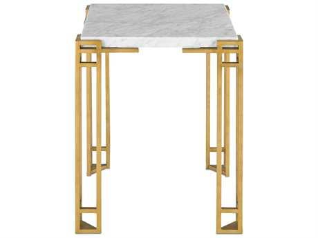 Currey & Company Zhin Contemporary Gold 18'' Square Accent Table