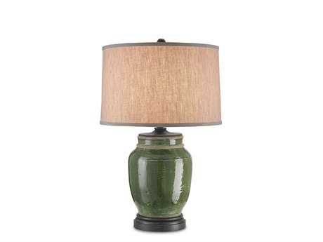 Currey & Company Carver Green Table Lamp