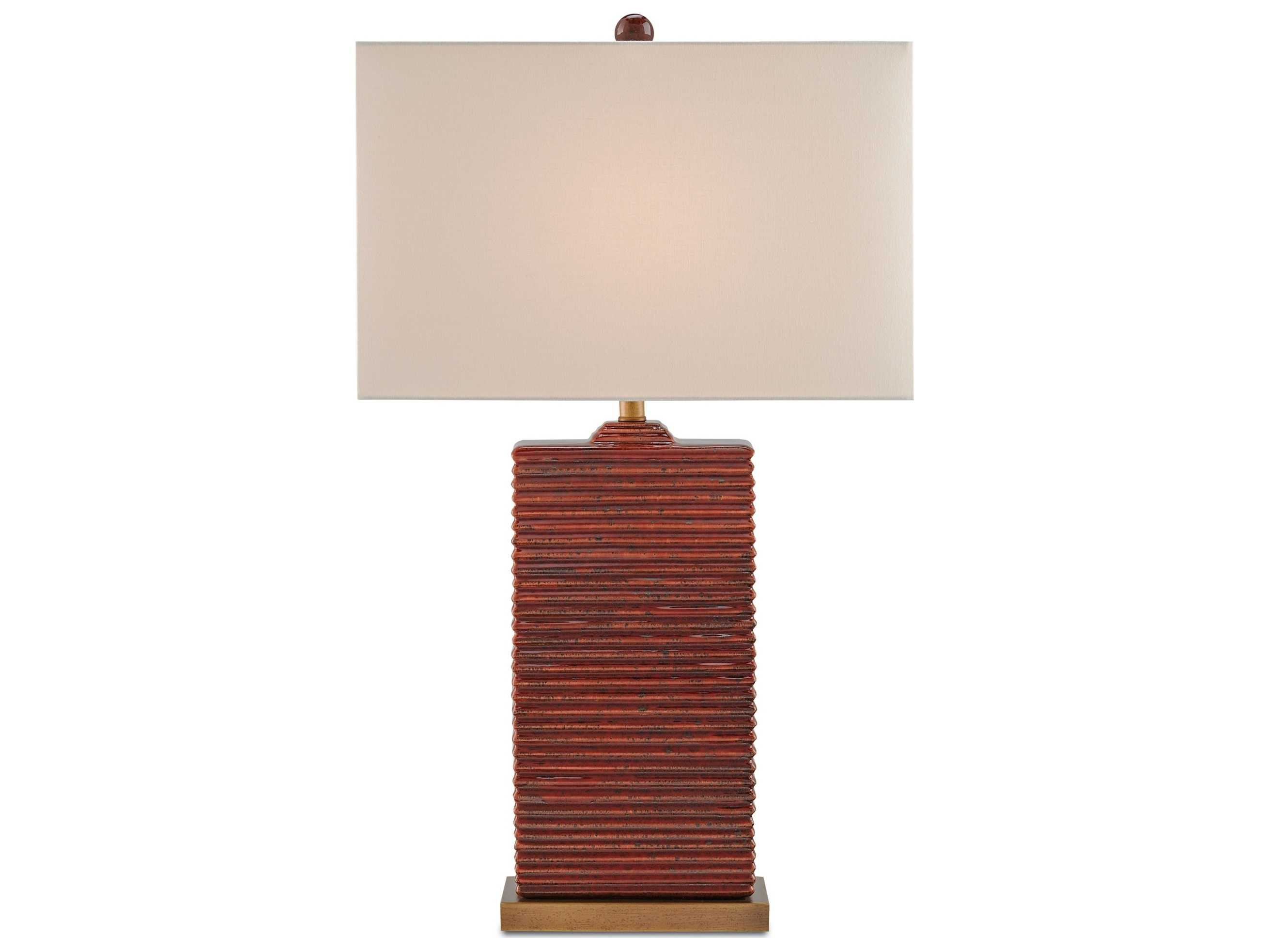Currey Amp Company Archer Red Table Lamp Cy6912