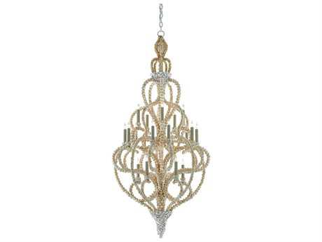 Currey & Company Corniche Natural 20-Light 28'' Wide Grand Chandelier
