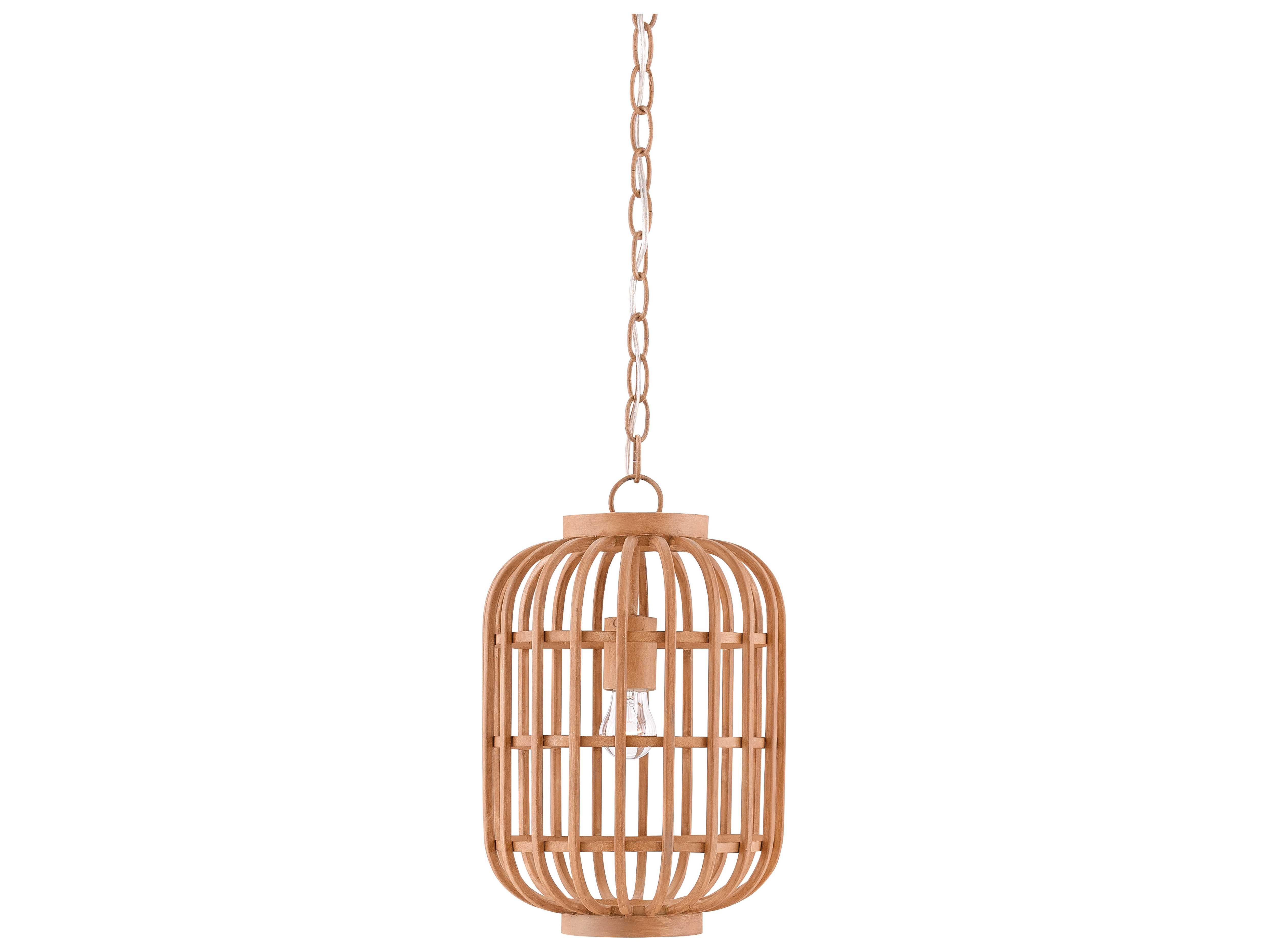 Wood Mini Pendant ~ Currey company matchiakari hiroshi wood edison bulb
