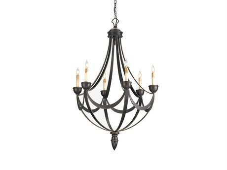 Currey & Company Palomino Bronze Gold Six-Light 28'' Wide Chandelier