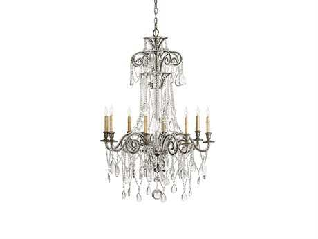 Currey & Company Lillian Viejo Silver Eight-Light Grand Chandelier