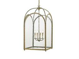 Currey & Company Loggia Rustic Gold Four-Light 24'' Wide Mini-Chandelier