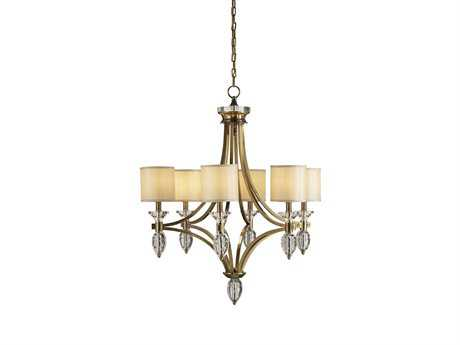 Currey & Company Sebastian Coffee Bronze Six-Light 30'' Wide Grand Chandelier