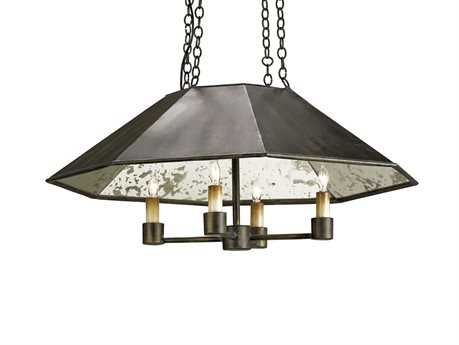 Currey & Company Annandale Bronze Four Light 24'' Wide Mini-Chandelier