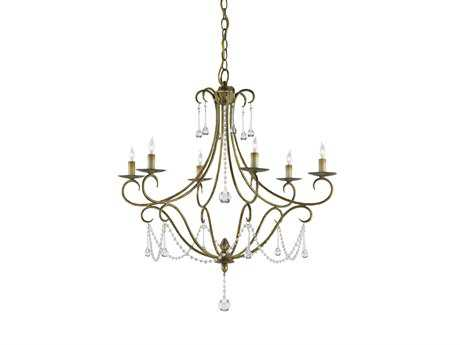 Currey & Company Agostina Gold Six-Light 28'' Wide Chandelier